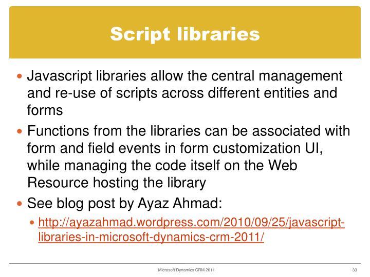 Script libraries