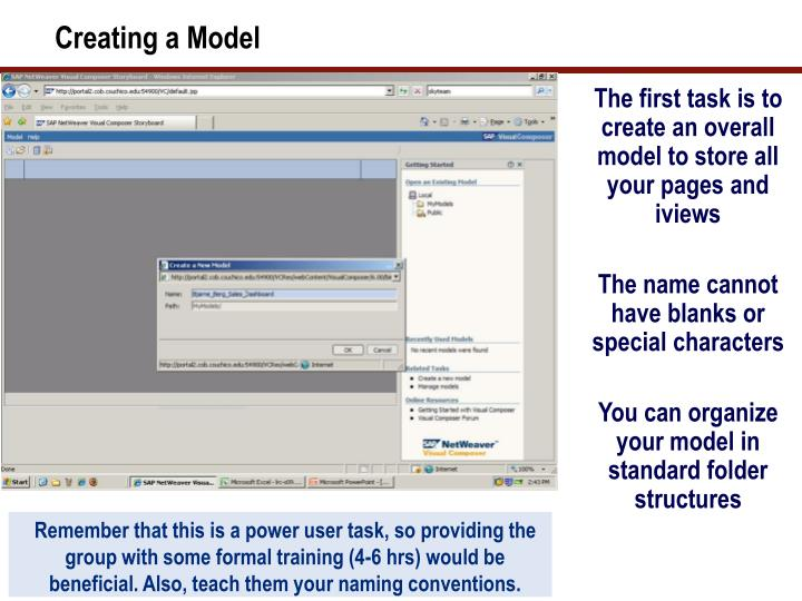 Creating a Model