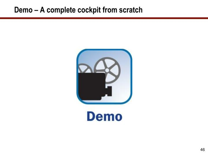 Demo – A complete cockpit from scratch