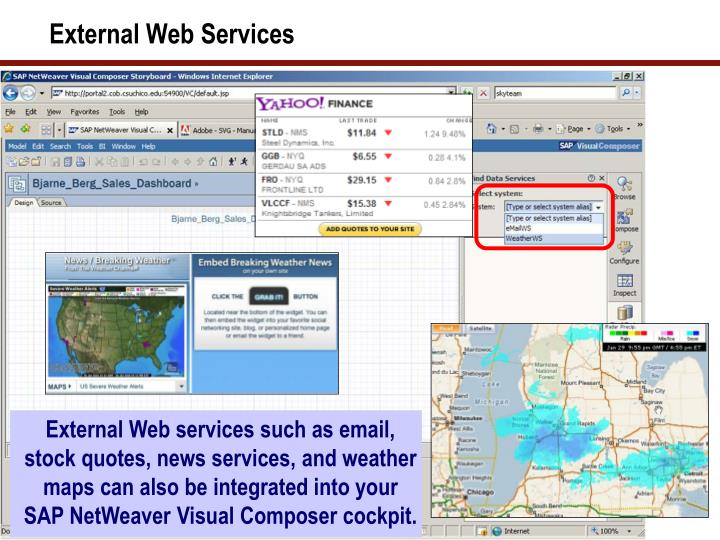 External Web Services