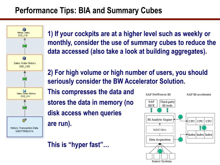 Performance Tips: BIA and Summary Cubes