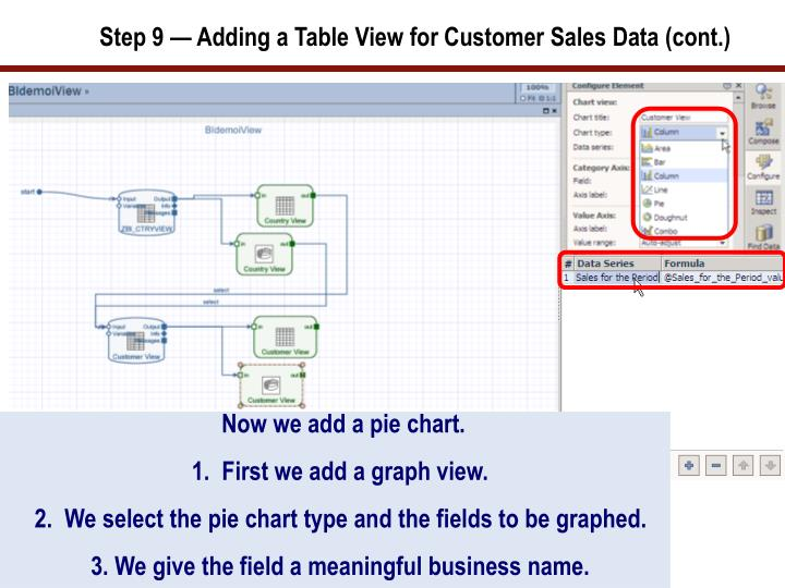 Step 9 — Adding a Table View for Customer Sales Data (cont.)