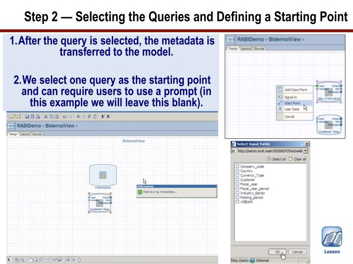 Step 2 — Selecting the Queries and Defining a Starting Point