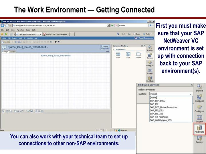The Work Environment — Getting Connected