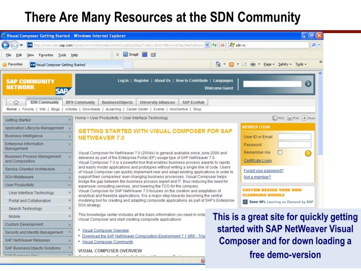 There Are Many Resources at the SDN Community