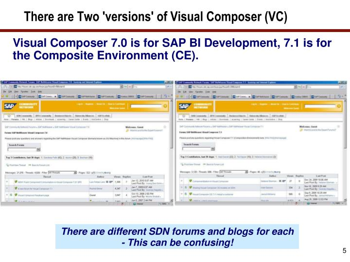 There are Two 'versions' of Visual Composer (VC)