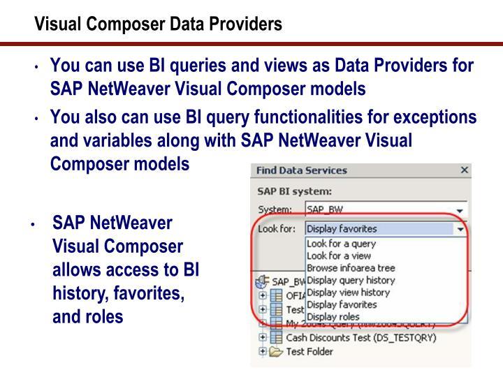 Visual Composer Data Providers