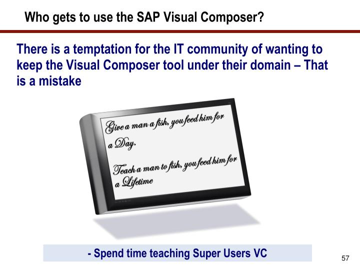 Who gets to use the SAP Visual Composer?