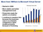 move from vmware to microsoft virtual server