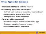 virtual application extension