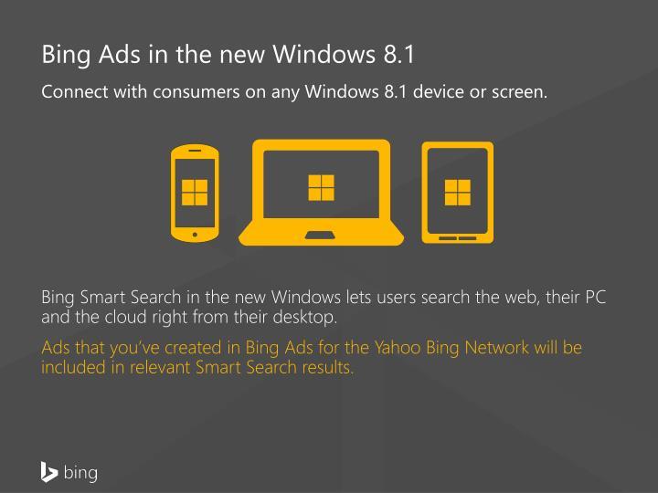 Bing Ads in the new Windows 8.1