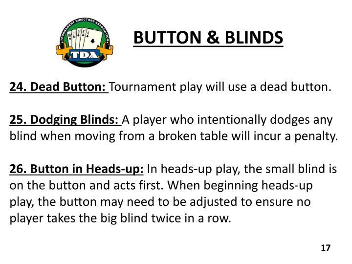 BUTTON & BLINDS