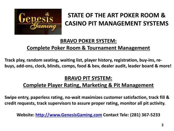 STATE OF THE ART POKER ROOM &