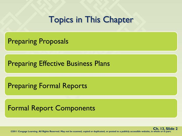 formal business reports