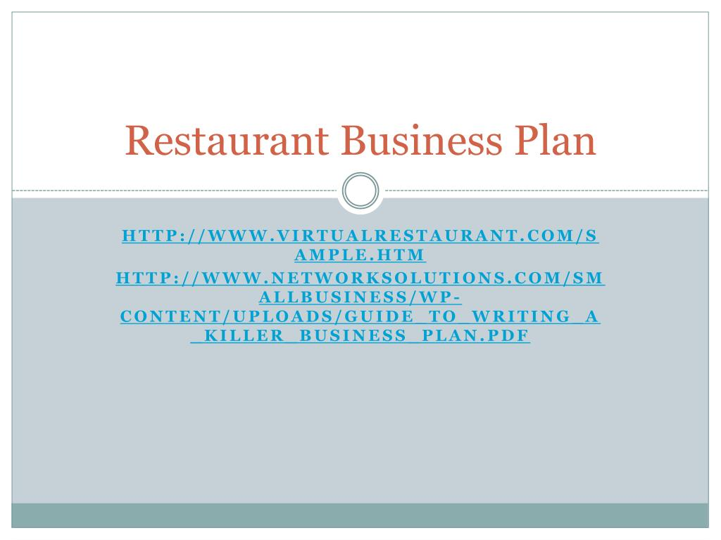 ppt restaurant business plan powerpoint presentation id 1692521