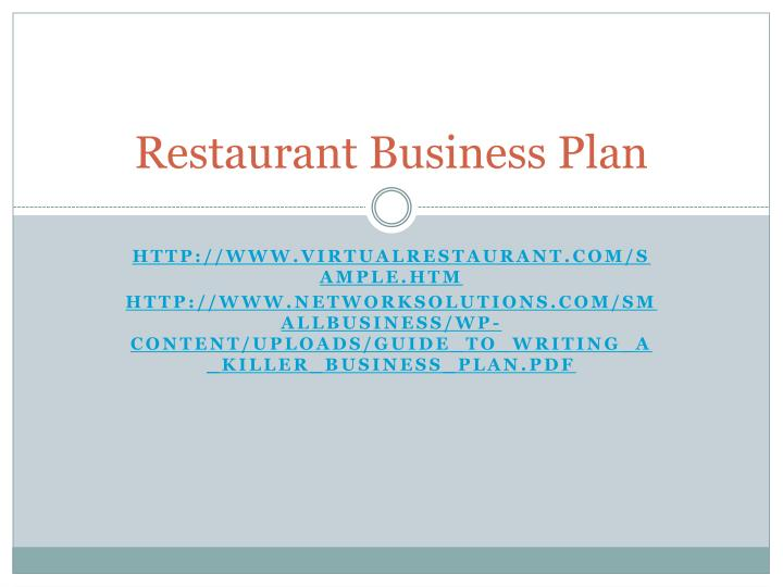 Ppt Restaurant Business Plan
