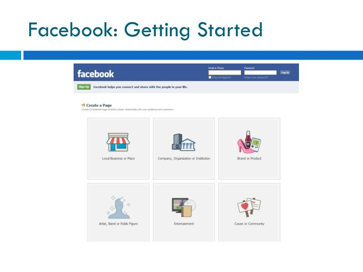 Facebook: Getting Started