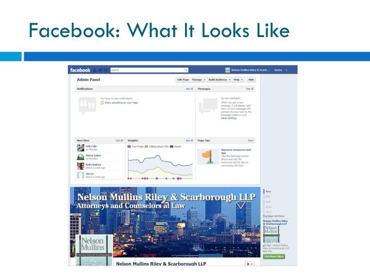 Facebook: What It Looks Like