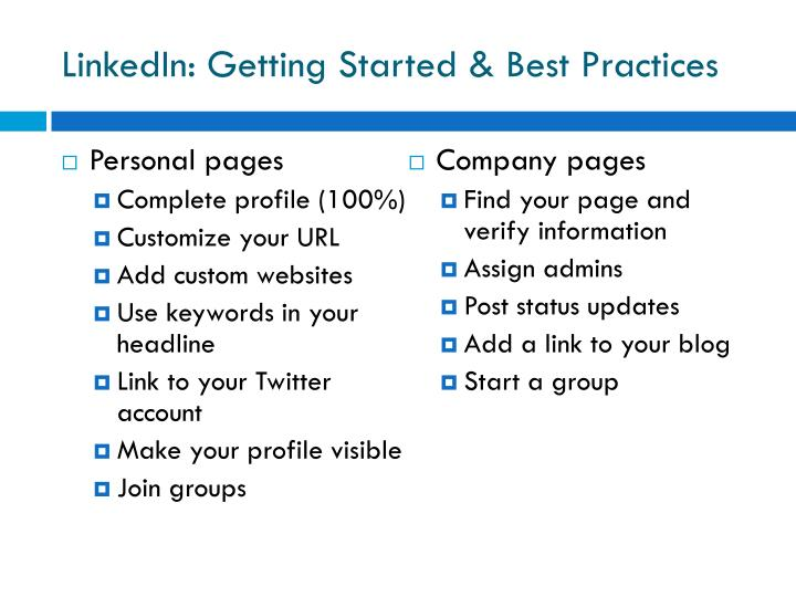 LinkedIn: Getting Started & Best Practices