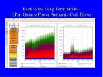 back to the long term model opa ontario power authority cash flows