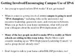 getting involved encouraging campus use of ipv6