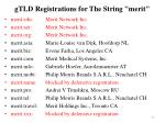 gtld registrations for the string m erit