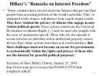 hillary s remarks on internet freedom
