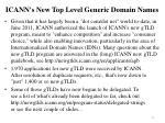 icann s new top level generic domain names