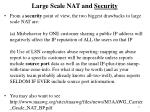 large scale nat and security