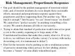 risk management proportionate responses