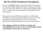 the new gtlds trademark clearinghouse