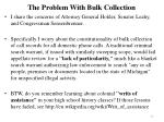 the problem with bulk collection