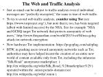 the web and traffic analysis