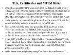 tls certificates and mitm risks