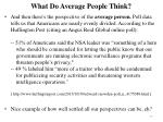 what do average people think