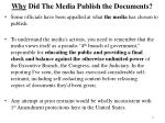 why did the media publish the documents
