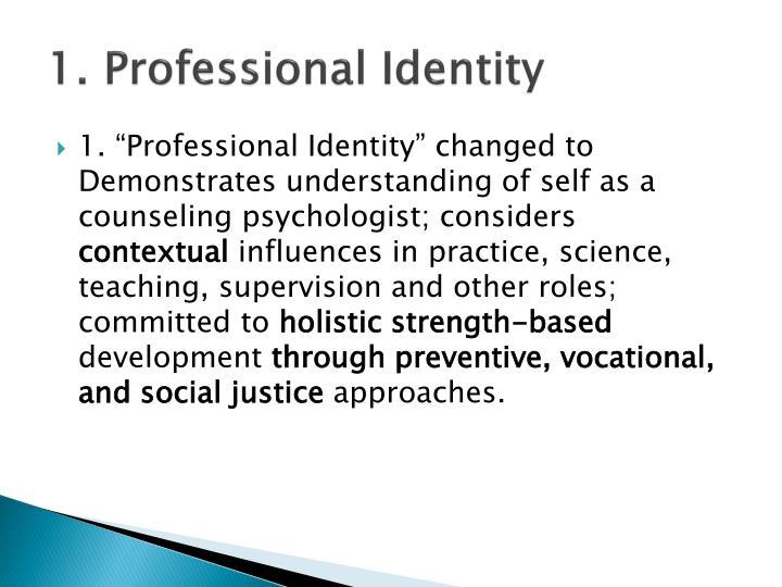 1. Professional Identity