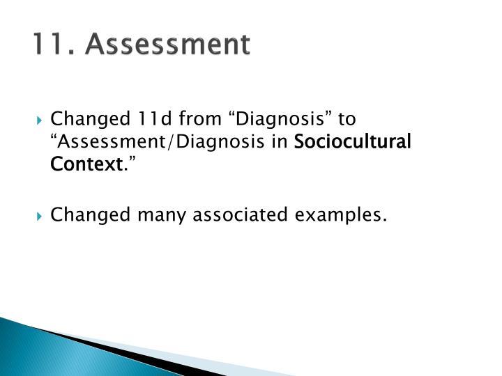 11. Assessment
