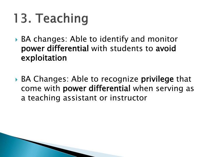13. Teaching