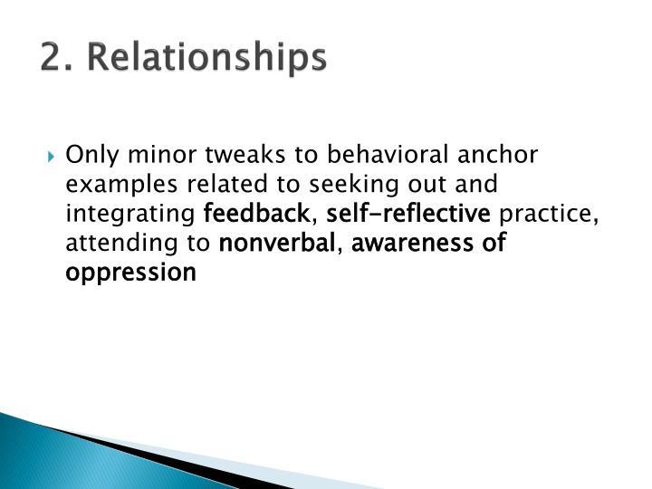 2. Relationships