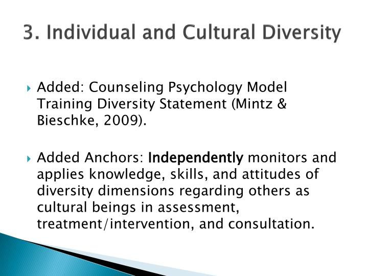 3. Individual and Cultural Diversity