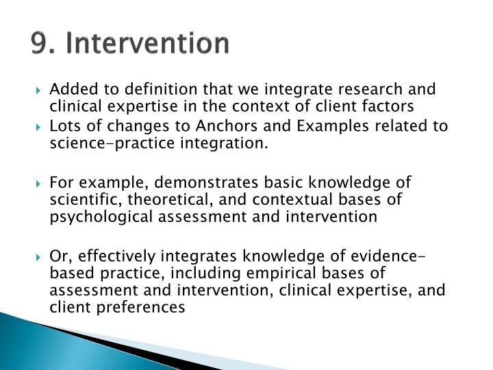 9. Intervention