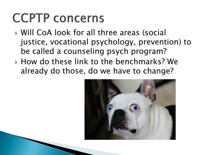 CCPTP concerns
