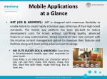 mobile applications at a glance