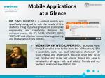 mobile applications at a glance1