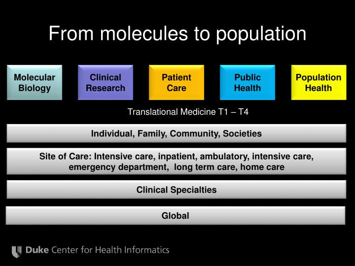 From molecules to population