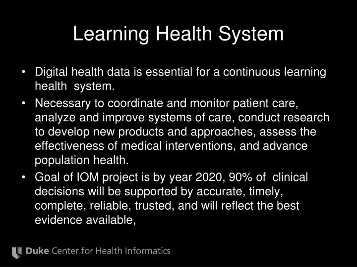 Learning Health System