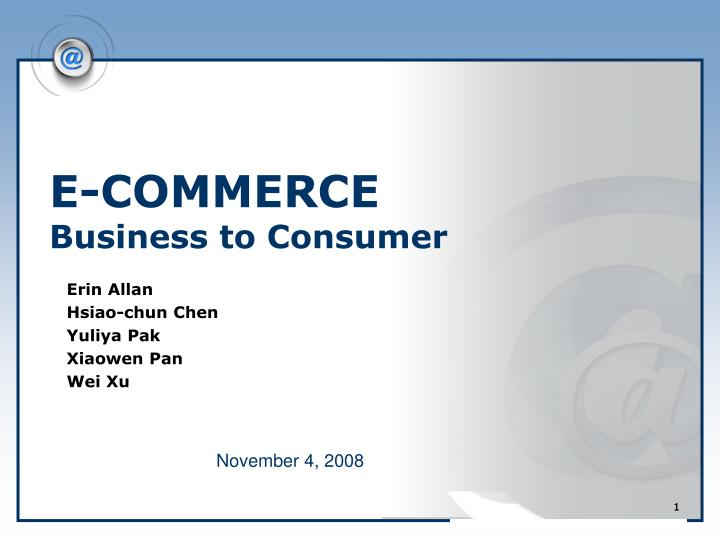 e commerce business to consumer n.