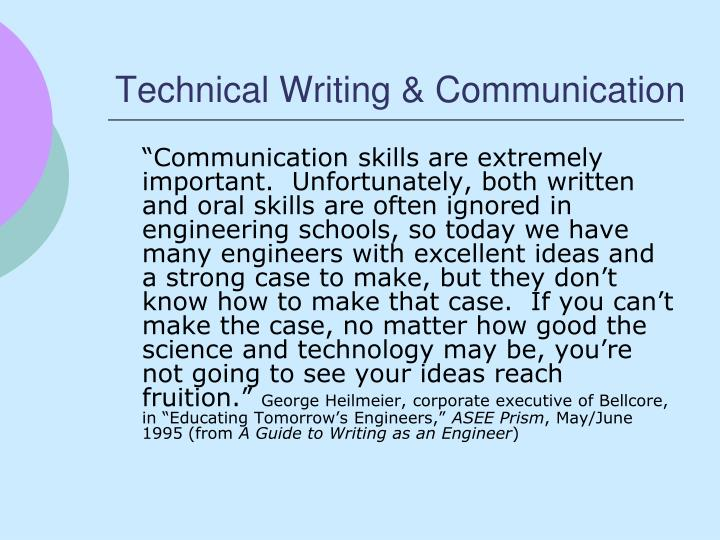 Technical writing communication