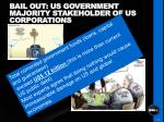 bail out us government majority stakeholder of us corporations